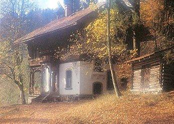 Herrenhaus am See um 1900