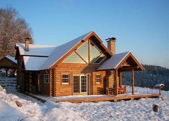 Amerikanisches Blockhaus im Schwarzwald