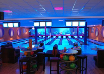 Bowling alley with Mexican restaurant