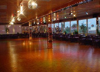 Dance school premises with a large bar area