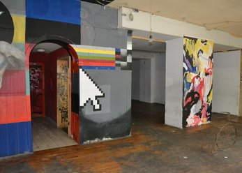 Former club location with graffiti